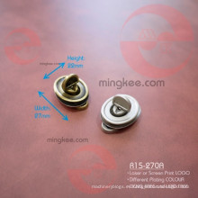 Aleación de zinc Metal Oval Turn Lock para monedero