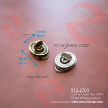 Verrou ovale en alliage de zinc en métal pour sac à main
