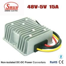 Convertidor de 48VDC a 5VDC 15A 75W DC-DC con IP68 a prueba de agua