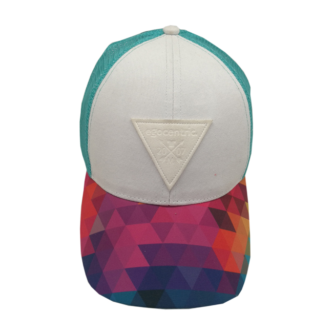 baseball cap with fashion patch logo