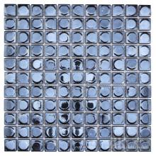 Protector contra salpicaduras cuadrado de vidrio negro