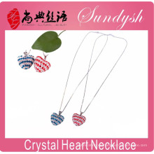 Liebe Herz Halskette Valentinstag Herz Halskette Silber Kristall Strass Liebe Herz Anhänger Halskette