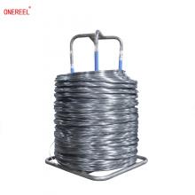 Empty wire cable spool bobbin coiler