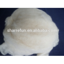 2017 bulk großhandel Chinesische Schafe Wolle Weiß 18.5mic / 34-36mm