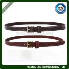 Moda Ladies Thin Belt Skinny Black Female Cintura Quadrada Cinto para Vestido / Cintos Moda Mulher Cintos de PU