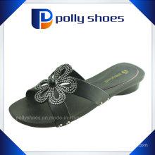 Born Black Leather Sandal Heel Slipper Size 37