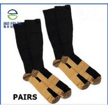 Calcetines de tobillo blanco acolchado correa protectora