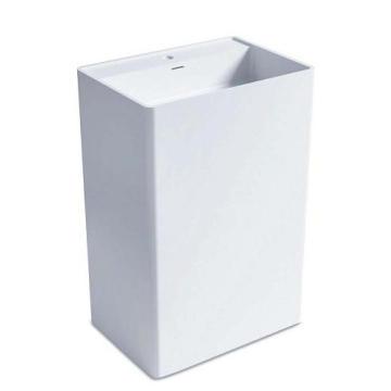 Freestanding Square Marble Stone Bathroom Pedestal Basin (BS-8504)