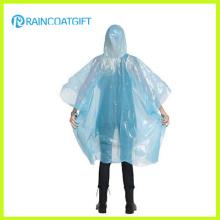 Eine Größe für alle Clear PE Disposable Regenmantel