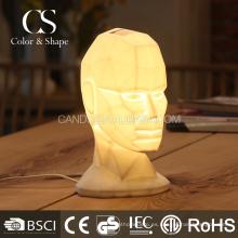 Elegante retrato lámpara de mesa de cerámica para sala de estar