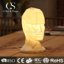 Elegant portrait ceramic table lamp for living room
