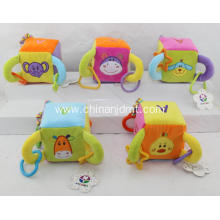 10CMX10CM colourful   plush magic cube toy