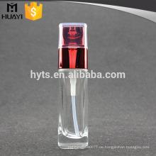Glasflasche Körperlotion Flasche mit Matal Pumpspray