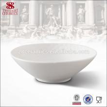 Bols à dîner en porcelaine blanche en porcelaine