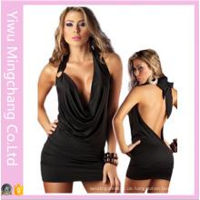 Plus Size Sexy Dessous Backless Halter Felgen Nachtclub Kleider 58140
