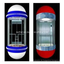 Sicherer 1.0m / S Glaspanoramischer Aufzug