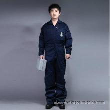 65% Polyester 35% Baumwolle Reißverschluss vorne Langarm-Sicherheit Overall Uniform (BLY1015)