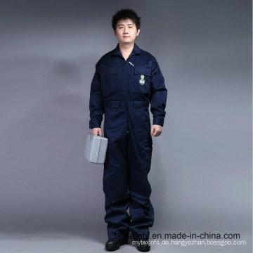 65% Polyester 35% Baumwolle Reißverschluss vorne Sicherheit Arbeitskleidung (BLY1015)