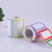 kundenspezifischer professioneller bedruckter beschichteter Papieraufkleber