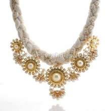 Cuerda de cadena enlace zamak embutido lindo collar para fiesta