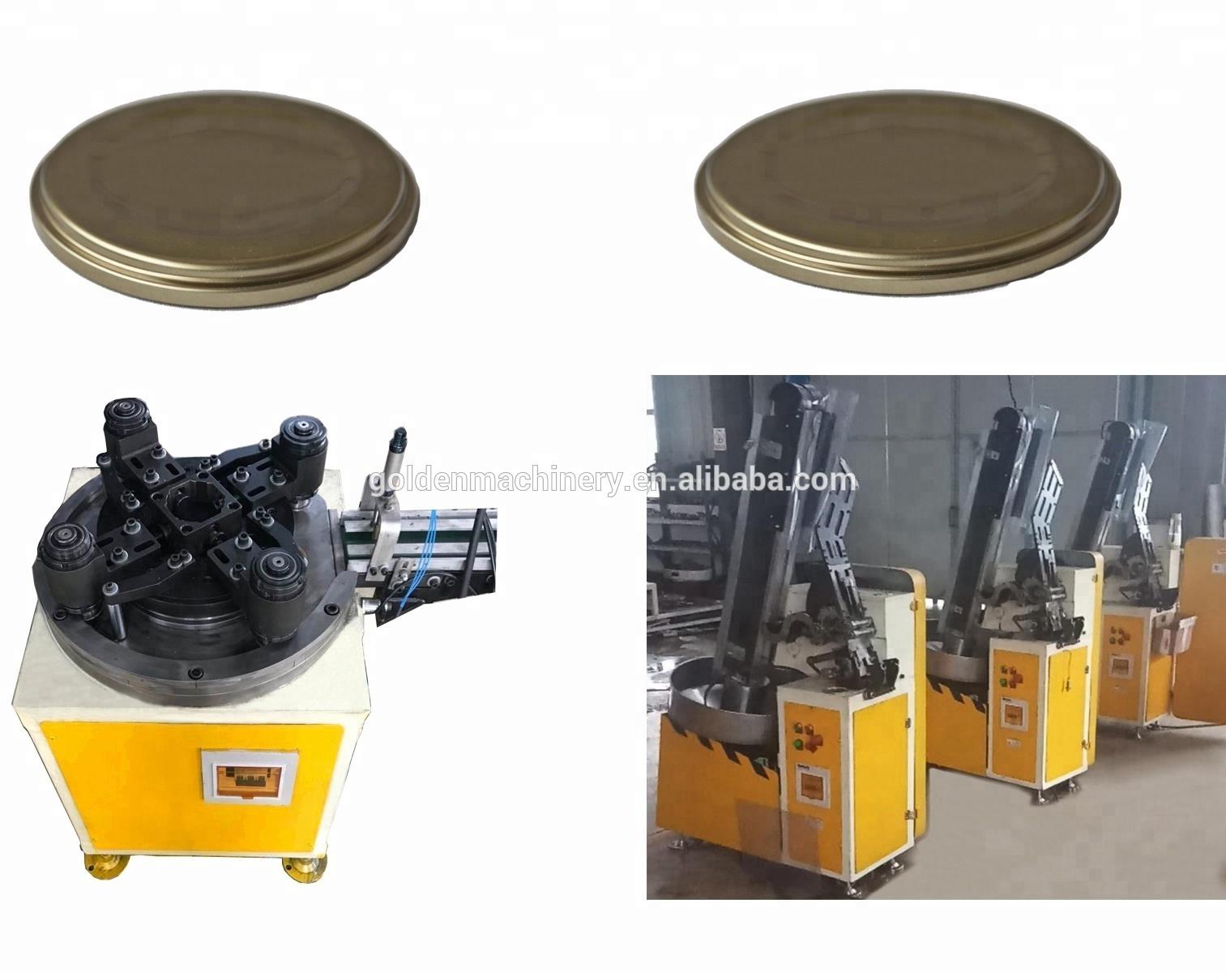 Automatic CNC Tinplate Sheet Feeding Metal Puncher dies/Punch Press for twist off CKO SKO cap making machine line