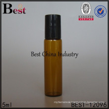5ml small glass tube bottle with roll on, painting color, logo printing, 2 free samples