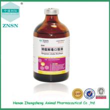 Liquide oral antibactérien de haute qualité de drogue vétérinaire