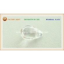 Perle en cristal de forme de goutte pour pendentif