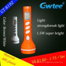2014 neue Design super Power Kunststoff LED-Solar-Taschenlampe