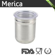 Stainless Steel Food Storage Jar with Lip