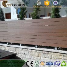 WPC material decking jardín piso plástico madera compuesta pantalla