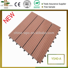 New decorative wood and plastic factory gardens easy to install wpc DIY tile