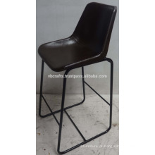 Cadeira de couro urbana urbana de barão Assento de cor marrom