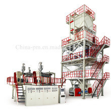 Máquina de soplado de película plástica POF de reducción de calor de tres capas