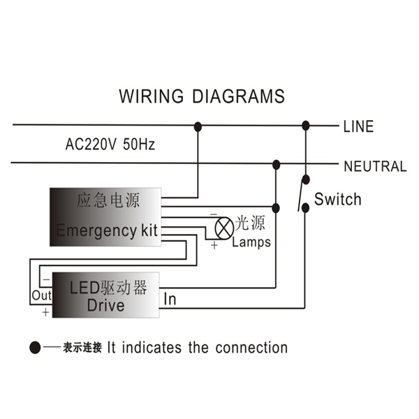 Wiring diagram led driver
