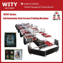 Newest Automatic Oval Textile Screen Printing Machine