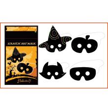 animal halloween para niños bricolaje máscara de tarjeta rasca y gana
