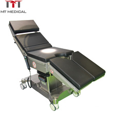 Medical equipment hospital stainless steel surgical electric operation table with 4 wheels