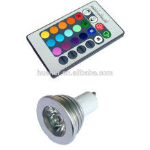 Nouveau design CE Rohs 3w rgb e27 gu10 led lumière profilée dimmable bulbe
