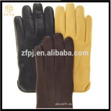 ZF5626 Herren Basic Style Wolle Gefüttert Deerskin Handschuhe mit Multi-Farben