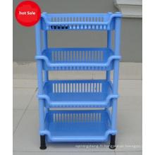 Rack de stockage de tiroir en plastique pour divers