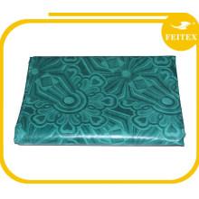 Vert FEITEX Jacquard Tissu Africain Fait à la Main Tissu 100% Coton 5 Mètres Shadda Bazin Riche Robes Kaftan 2016