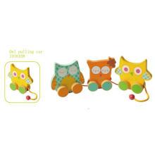 Puxar de madeira e empurrar Toy brinquedo de madeira de puxar para crianças