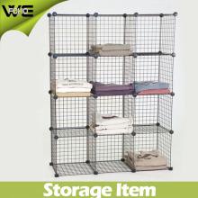 Diy Mesh Storage Shelves Box Cabinet con Wire Metal Material 4 mm y 2 mm de espesor 3 Cubes / 4 Cubes / 5 Cubes / 6cubes / 12cubes