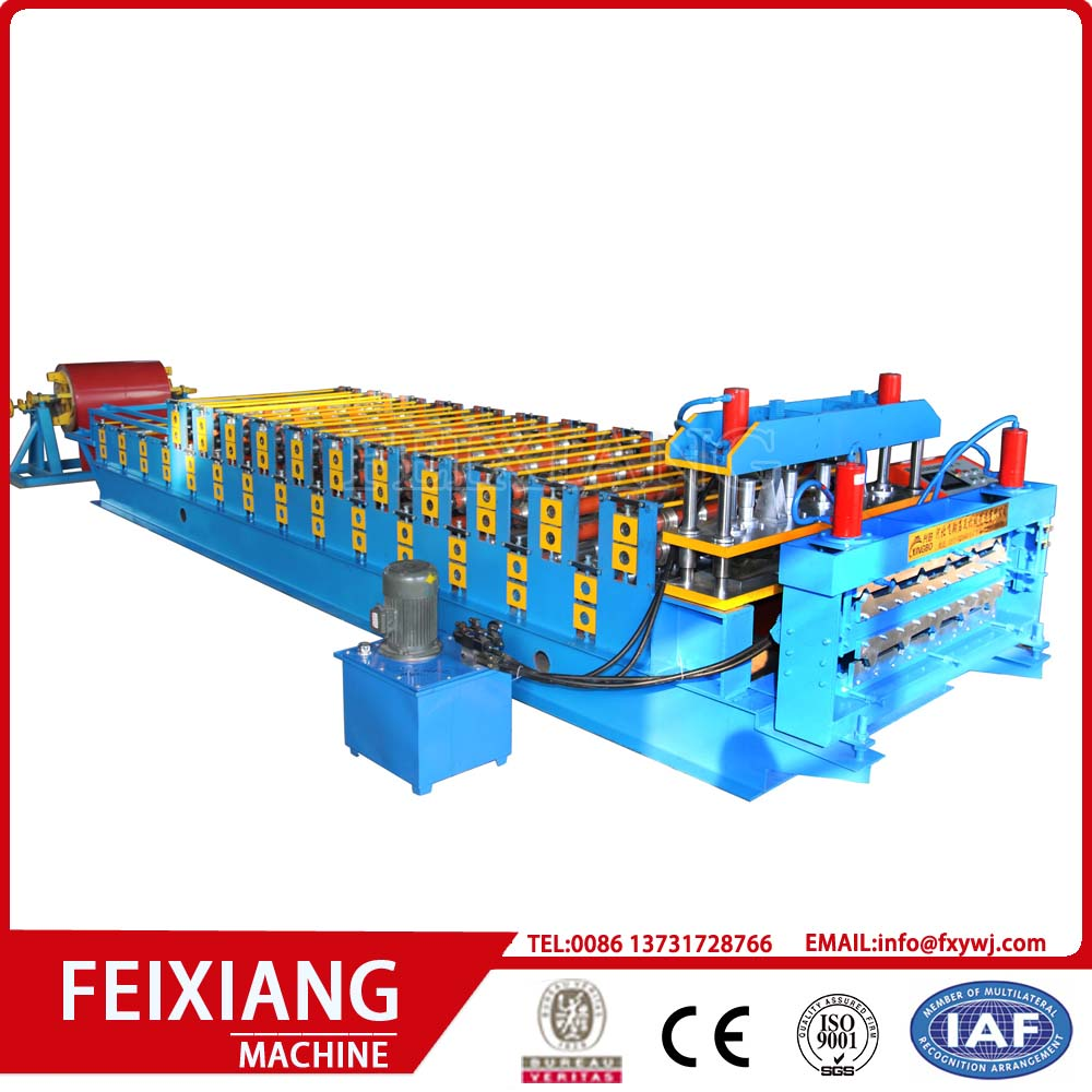 Double layer glazed tiles roll forming machine