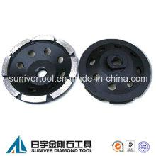 Diamond solo fila ruedas abrasivas de cubeta para hormigón