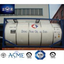 Recipiente de 20FT 26000 L aço inoxidável tanque para alimento comestível, óleo, produtos químicos, combustível