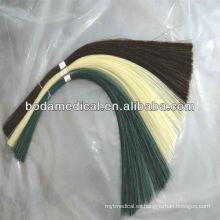 Sutura de catgut cromada absorbible con aguja