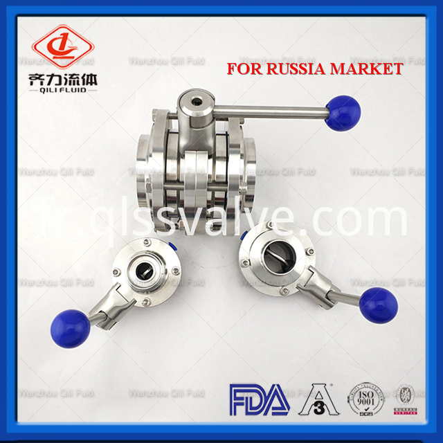 Sanitary Stainless Steel Butterfly Valve 136