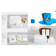 100% Cotton Face and Hand Towels for Hotel Restaurant